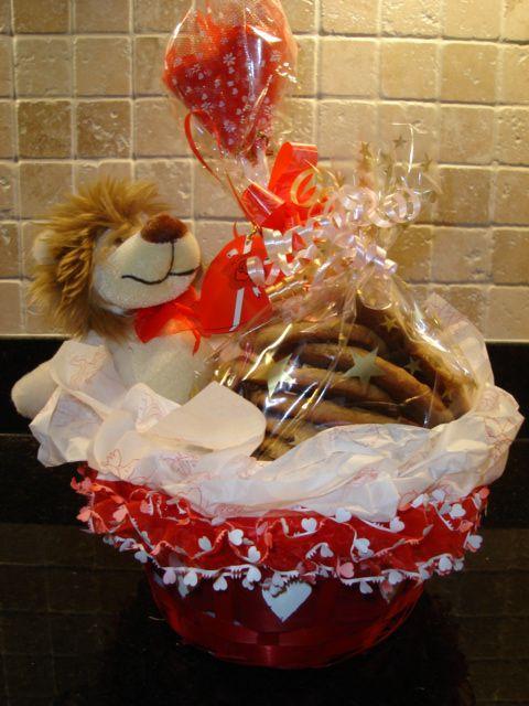 diy valentine gift basket for him