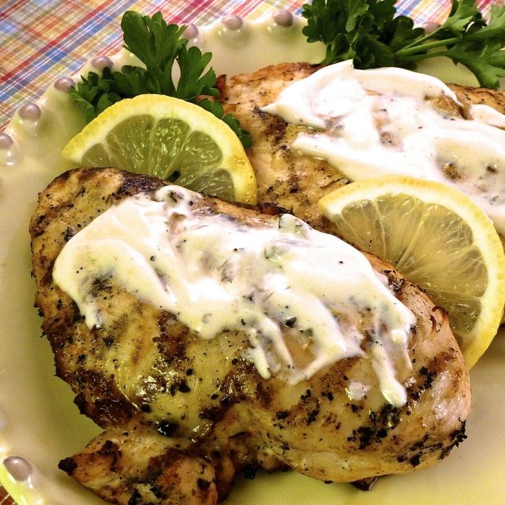 Grilled Lemon Yogurt Chicken - the yogurt marinade really infuses the ...