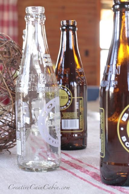 Vintage soda bottles home decor pinterest for Decor drink bottle