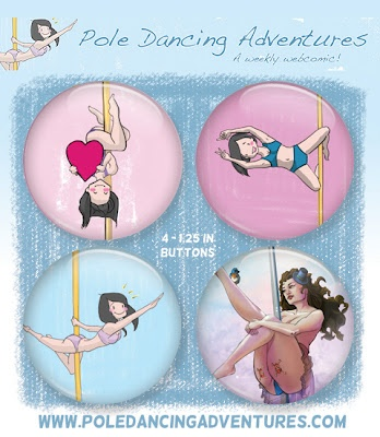 I have 3 PDA Prize Packs to give away! Three separate winners will get one of the Prize Packs below:        - one PDA Button Pack AND print of your choice!      - one PDA Button Pack!      - one PDA Print of your choice!    How To Enter: http://pole-dancing-adventures.blogspot.com/2012/06/pdas-first-giveaway.html