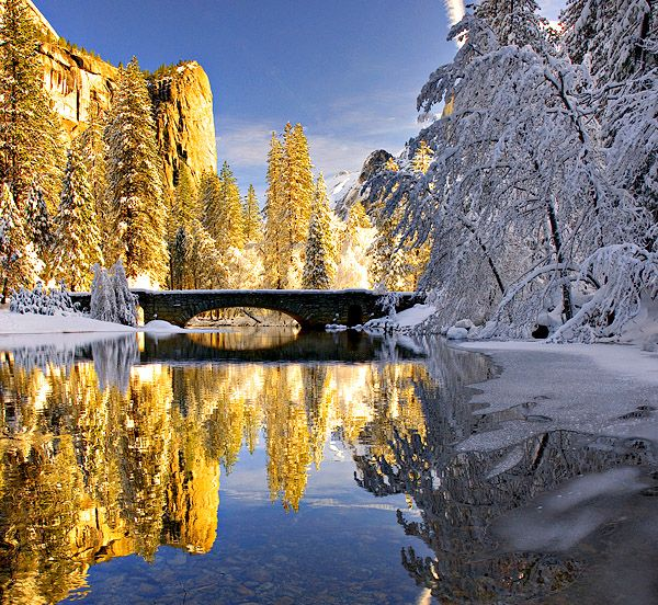 Yosemite in winter ca someday pinterest for Best places to visit in winter in usa