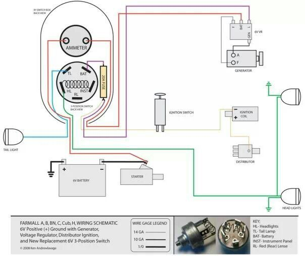 farmall h engine wiring diagram 6 volt farmall h tractor wiring diagram 6 free engine farmall h generator wiring diagram