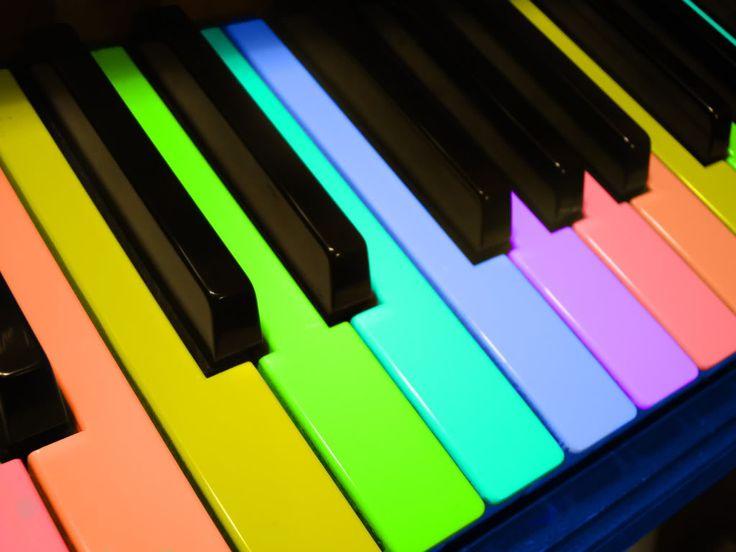 rainbow piano keys wallpaper wwwimgkidcom the image