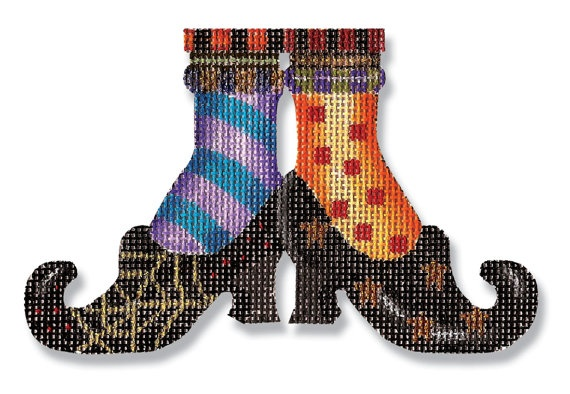 Halloween Needlepoint - Witches shoes