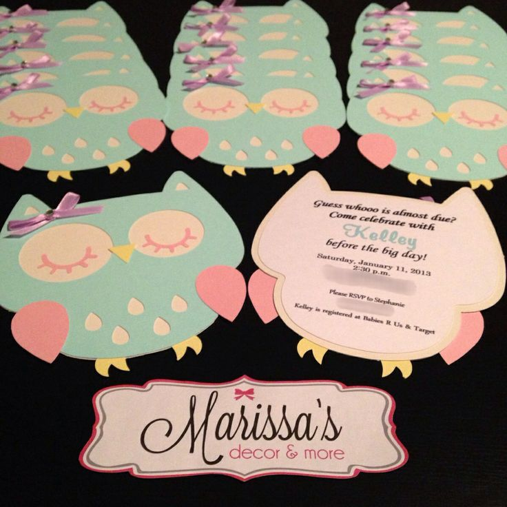 owl theme baby shower invitation party ideas pinterest