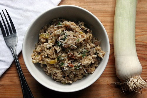 ... cream risotto with leeks shiitake mushrooms and truffles rezept yummly