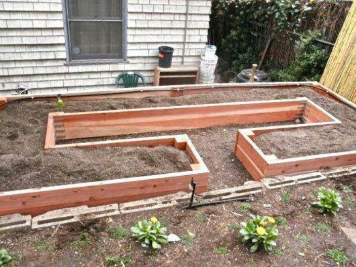 Unique raised bed design garden pinterest for Raised bed garden plans designs