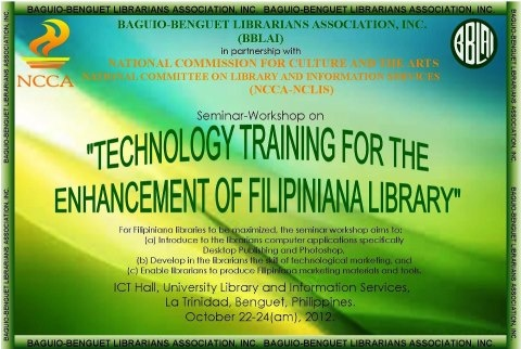 The Baguio-Benguet Librarians Association Inc. in partnership with the ...