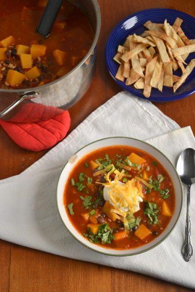Butternut squash & black bean taco soup | Food Doodles