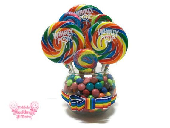 Small Rainbow Candy Centerpiece, Rainbow Lollipop Centerpiece, Candy Buffet, Rainbow, Candy, Lollipop, Centerpiece, Arrangement, Birthday on Etsy, $24.99