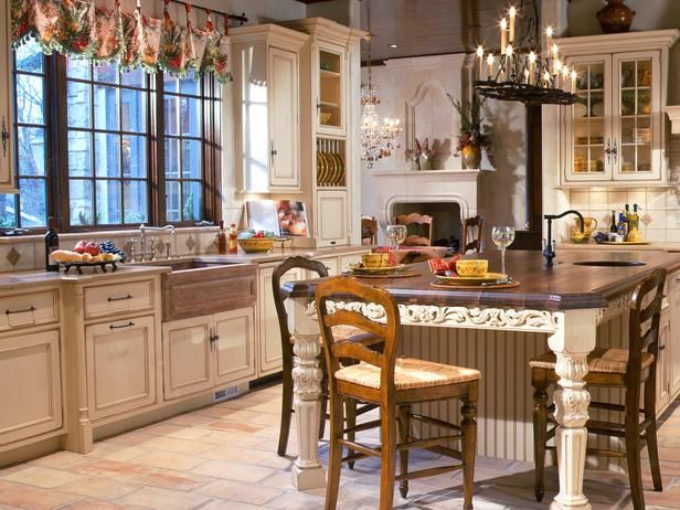 European Style Kitchen With Old World Antiques