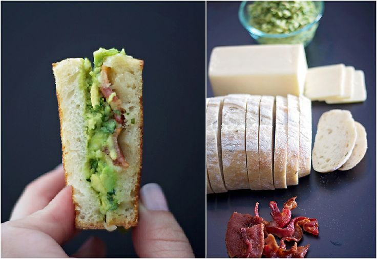 guacamole bacon grilled cheese | Snacks and Sides | Pinterest