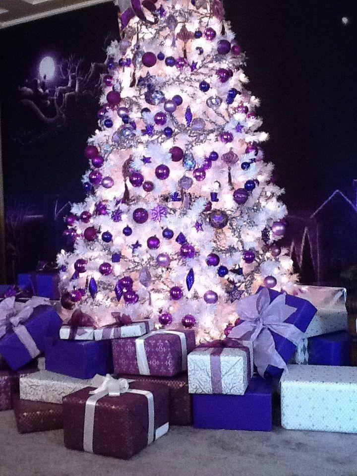Purple christmas tree christmas in purple lilac pinterest