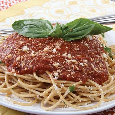 Spaghetti with Marinara Sauce | Dinner Recipes from Culinary.net | Pi ...