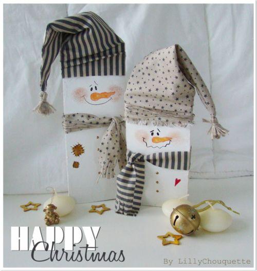 Wooden SnowMen... | Xmas Craft | Pinterest