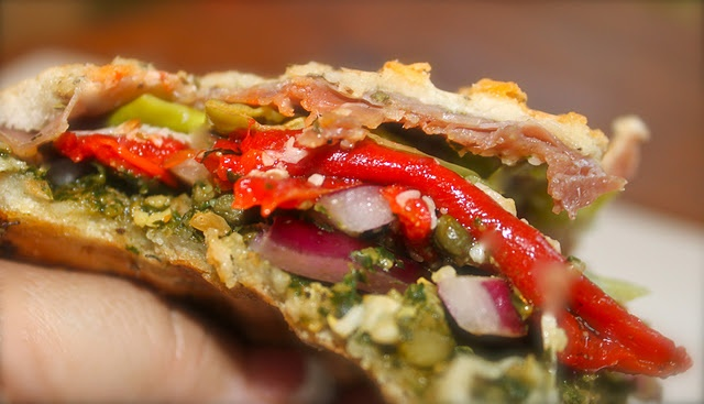 Prosciutto, Red Pepper, and Pesto Panini | Recipe Ideas | Pinterest
