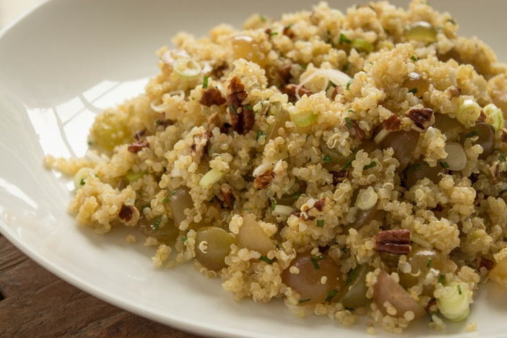 Quinoa w/ 3 Onions, Pecans & Muscat Grapes | Chef Jamie Levine, green ...