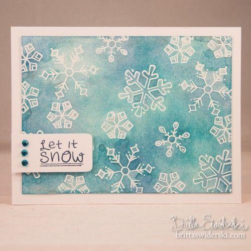 <3 Snowflake card