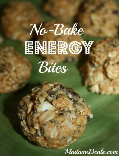 No Bake Energy Bites Recipe http://madamedeals.com/no-bake-energy-bites-recipe/ #inspireothers