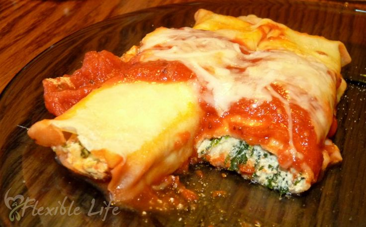 Skinny Spinach Manicotti with Homemade Crespelles @ A Flexible Life