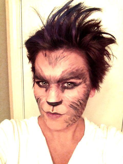 Cute wolf makeup