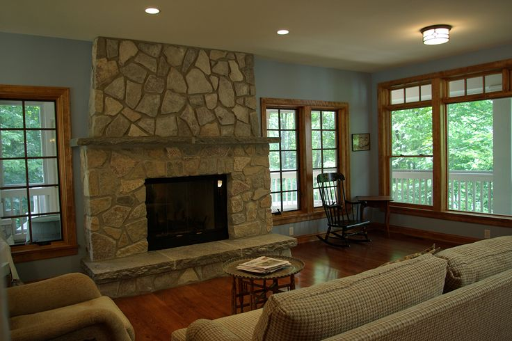 Wood Trim Living Room Pinterest