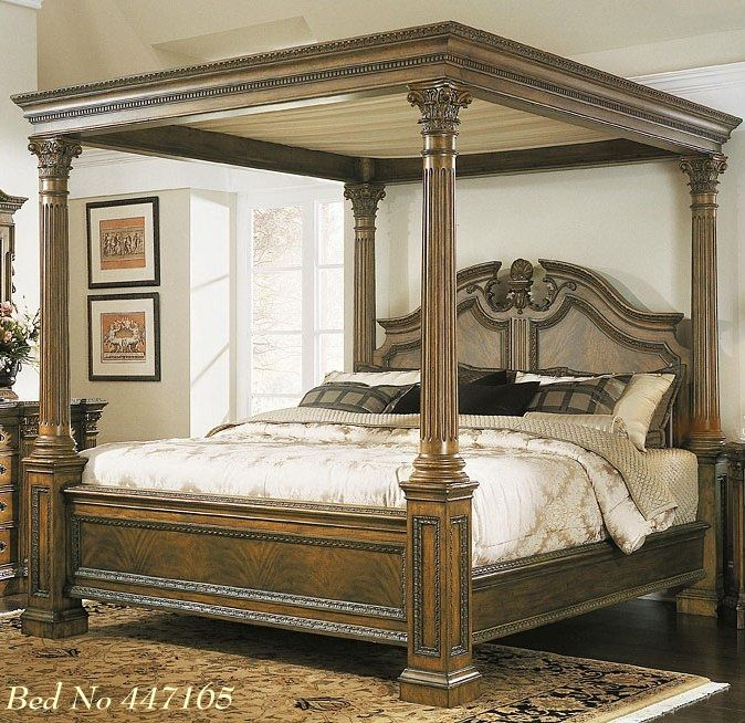Lucas 39 s bed too old fashioned a stormy spring for Cama grand king
