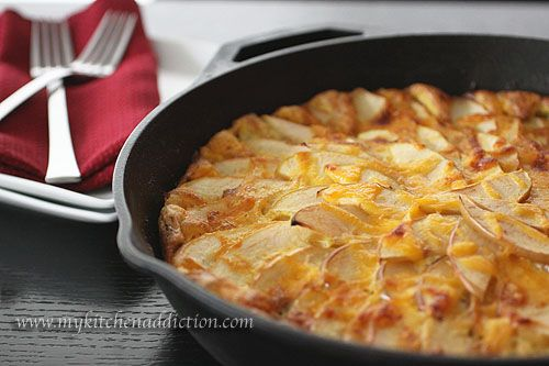 Bacon Cheddar Frittata. This recipe sounds so good...apples, bacon ...