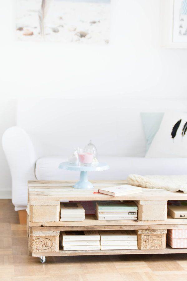 wohnzimmerlampen hängend:DIY Pallet Coffee Table