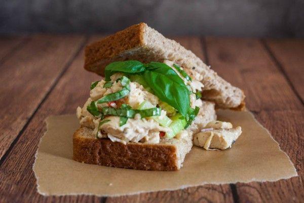 Lemon Basil Chicken Salad by EclecticRecipes.com #recipe | Food_Salads ...
