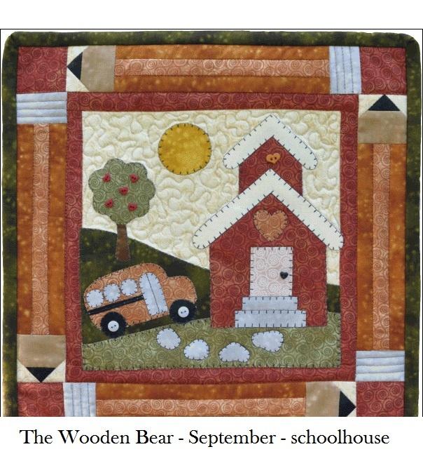 Wooden Bear Quilt block September | Crafts - Sewing Quilts | Pinterest