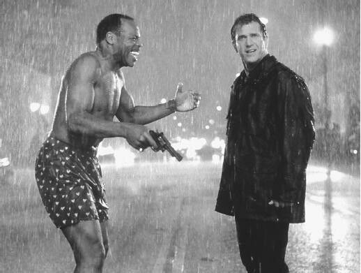 Lethal weapon mel gibson and danny glover photo b w