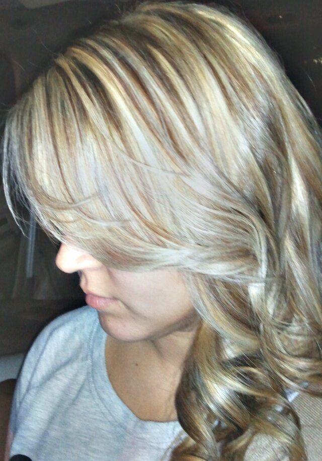 Ash Blonde W Brown Lowlights Hair Pinterest