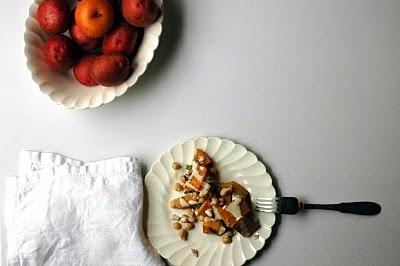 Warm Butternut Squash and Chickpea Salad from Orangette--divine.