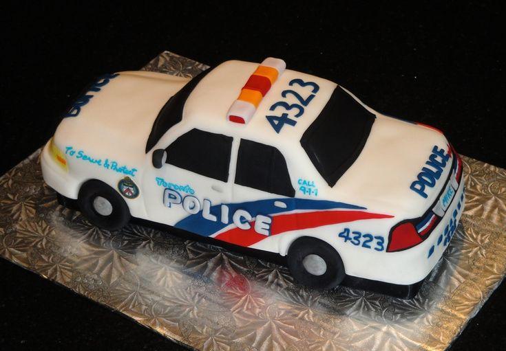 Police Car Cake Tutorial Police Car Cakes