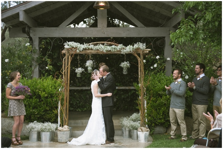 rustic wedding arch wedding photo booth Pinterest