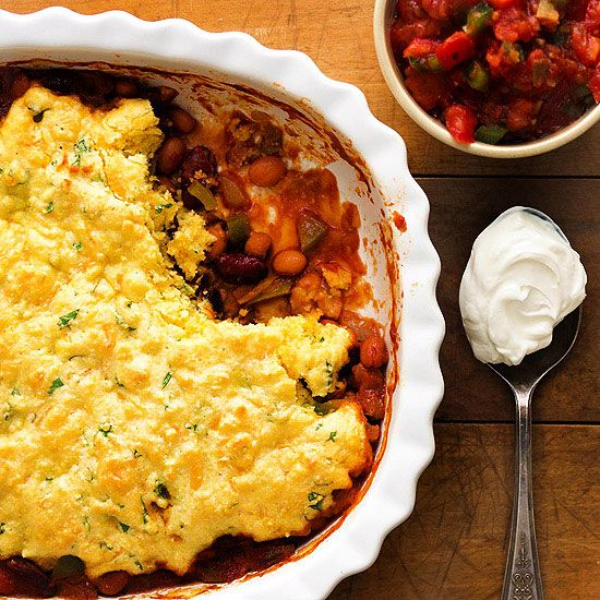 -Bean Tamale Pie`With a crumbly cornbread top and cheesy spiced beans ...