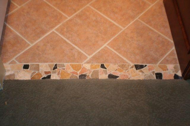 Tile Transition Flooring Pinterest