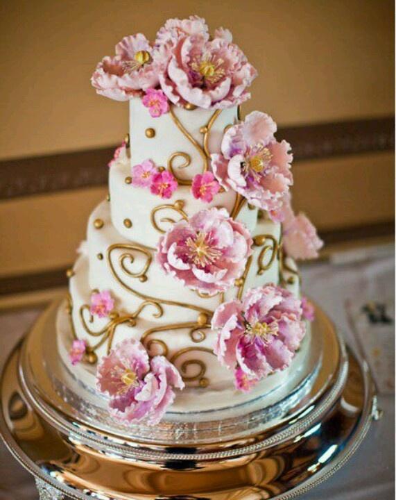 Beautiful pink peonies CAKES Pinterest