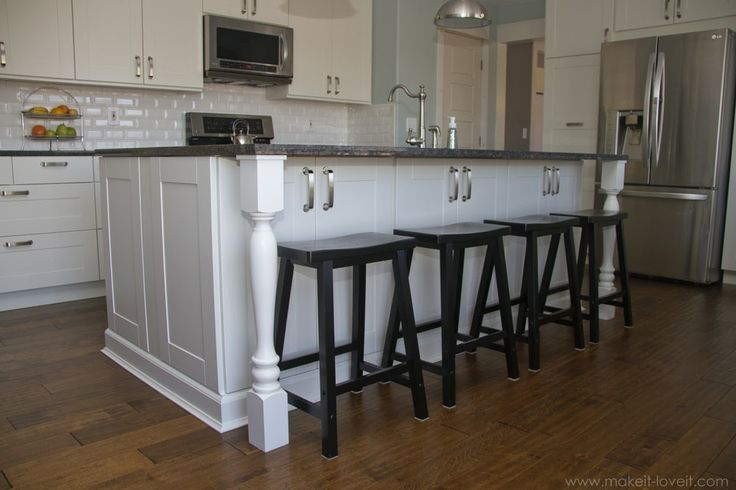 add columns to counter overhang3 dream home pinterest