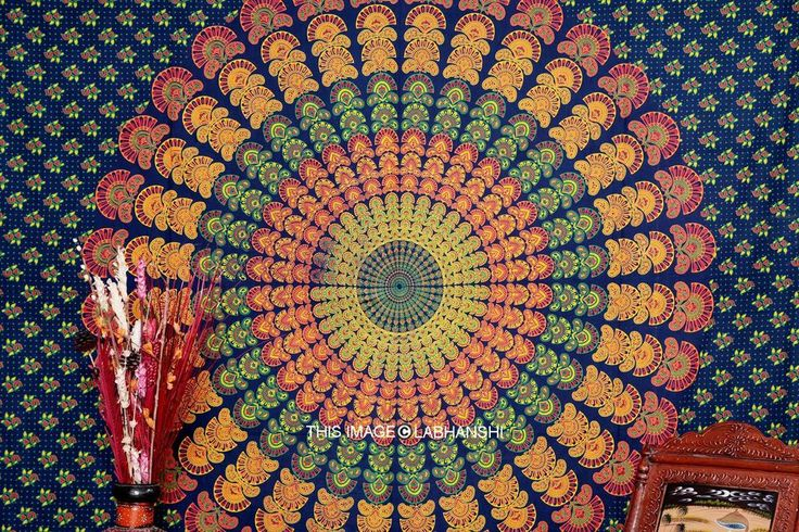 Indian mandala tapestry wall hanging hippie bed sheet bedspread