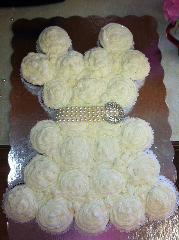 Wedding Dress Cupcake Cake Rustic Ideas Paytons