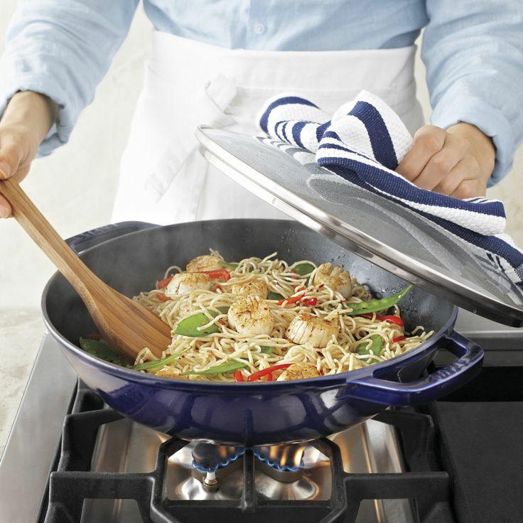 Staub marin perfect pan sur la table products i love for Sur la table 6 quart