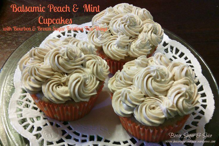 Peach & Mint Cupcakes with Bourbon & Brown Sugar ... | Cute Cupcakes