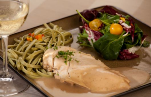 Chicken with Sherry and Spinach Pasta | Recipes | Pinterest