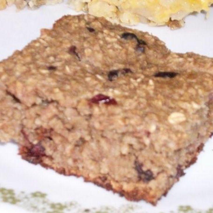 Banana Oat Breakfast Bars Recipe | Food For Fitness | Pinterest