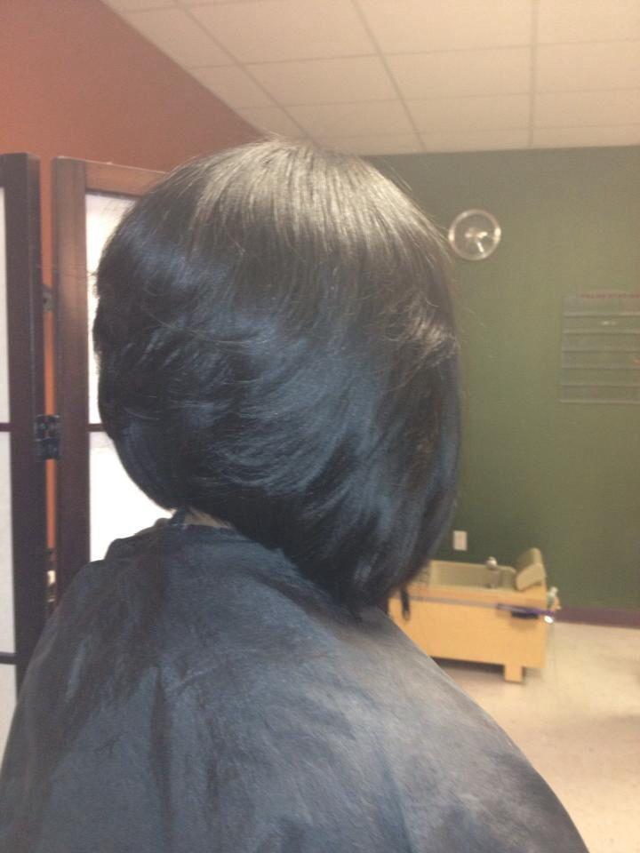 sew in layered bob hairstyles : RAZOR CUT LAYERED SEW-IN ANGLE BOB Beauty & Hair Pinterest