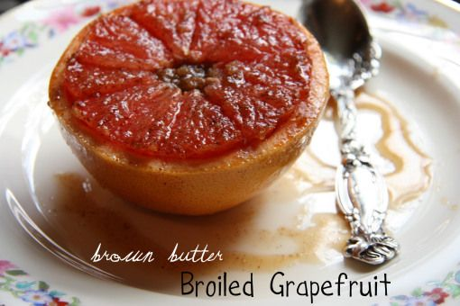 Brown Butter Broiled Grapefruit | Break your fast! | Pinterest