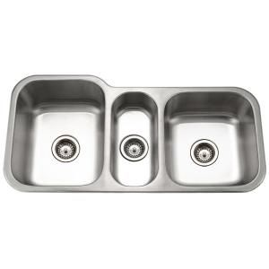 3 Bowl Kitchen Sink : ... 13/16 in. x 20-3/16 in. Gourmet Triple Bowl-MGT-4120 at The Home Depot