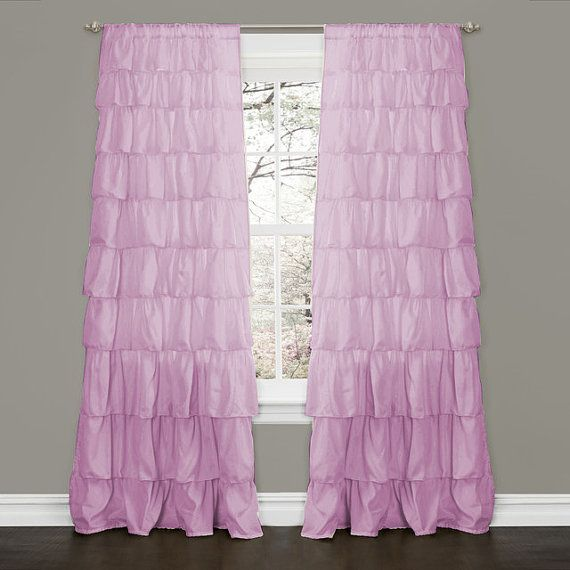Lavender blackout waterfall ruffle curtains 100 egyptian cotton 2